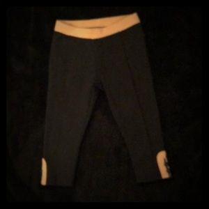 Janie and Jack Black w/tan accents leggings 18-24!